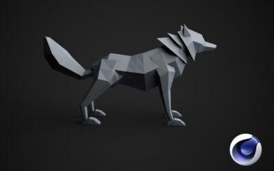 Cinema 4D: Create Low Poly Wolf