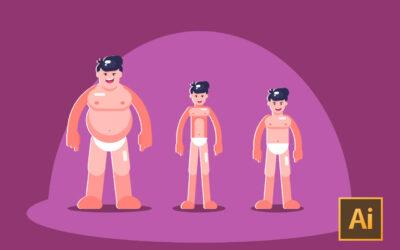 Adobe Illustrator CC: Create Simple Flat Vector Characters